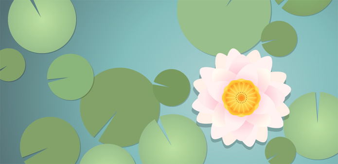 How_to_create_a_water_lily_in_Adobe_Illustrator_1