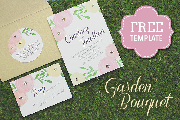 examples-and-design-templates-of-invitations-garden-bouquet-template
