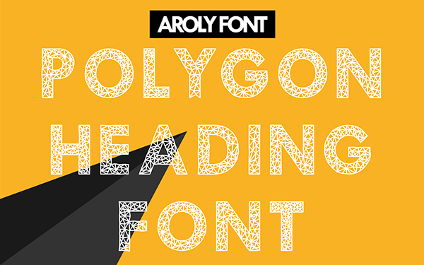 trends-2015-polygonal-graphics-AROLY_(FREE FONT)