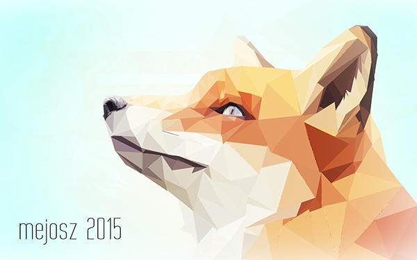 trends-2015-polygonal-graphics-Low-Poly Fox