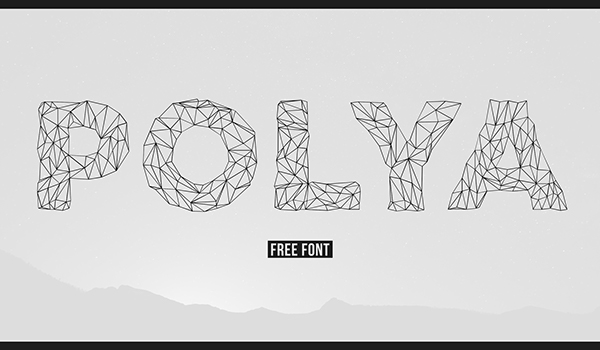 Line Art Font : Design trends of polygon graphics