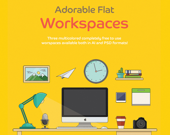 freebies-of-may-2015-FlatWorkspace
