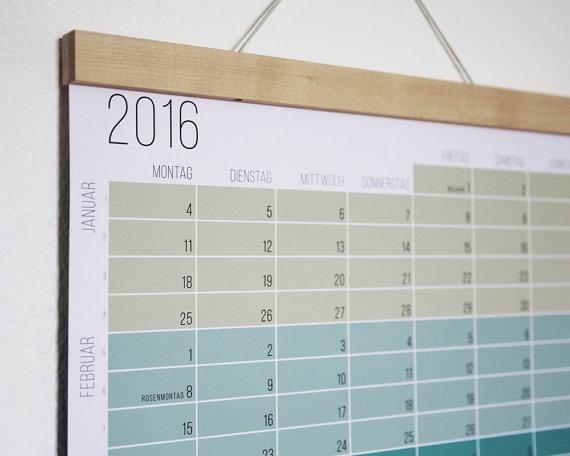 creative calendars 2016