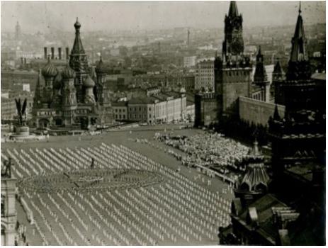 Владислав Микоша «Физкультурный парад на Красной площади», 1937