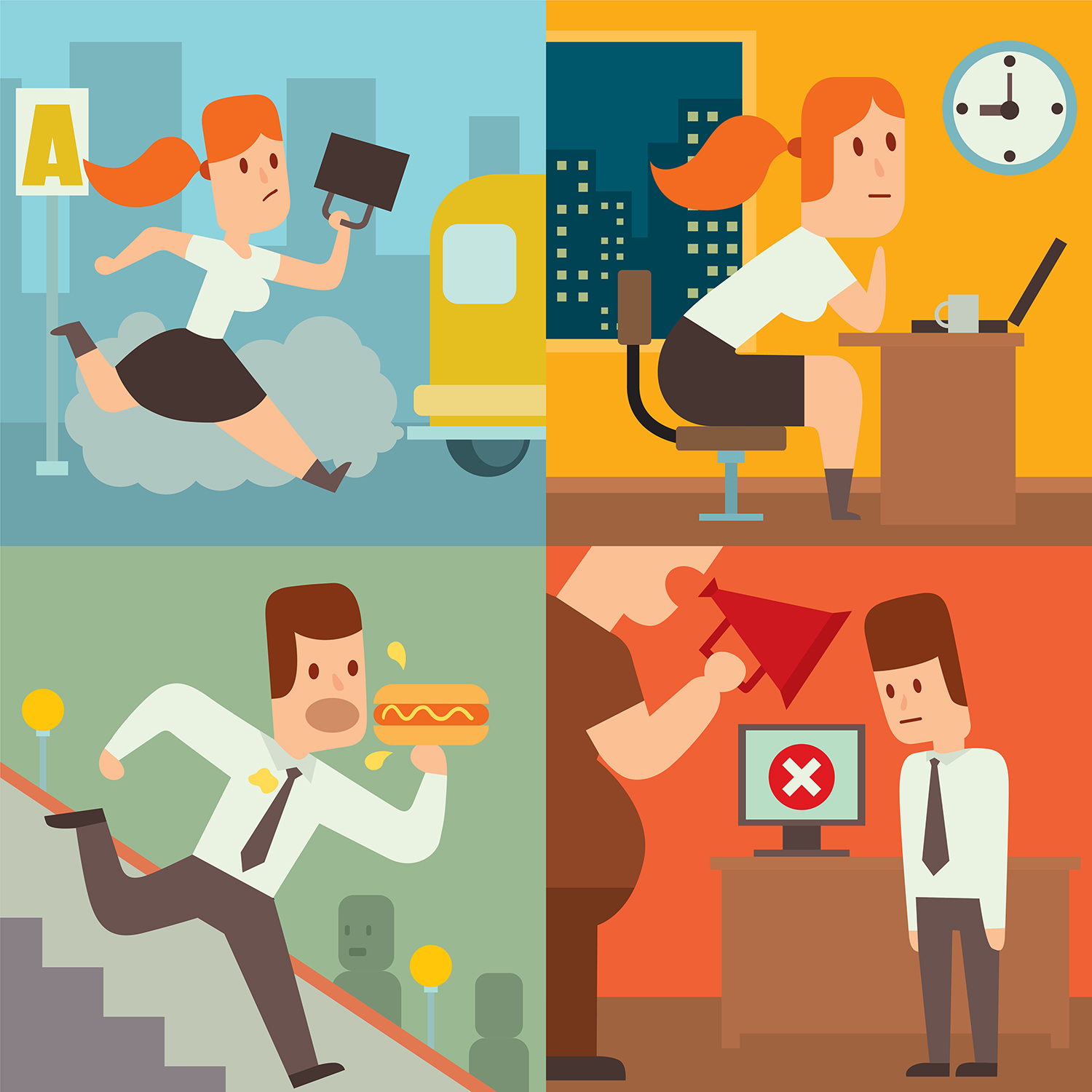 business-work-time-lag-delay-vector-illusutration