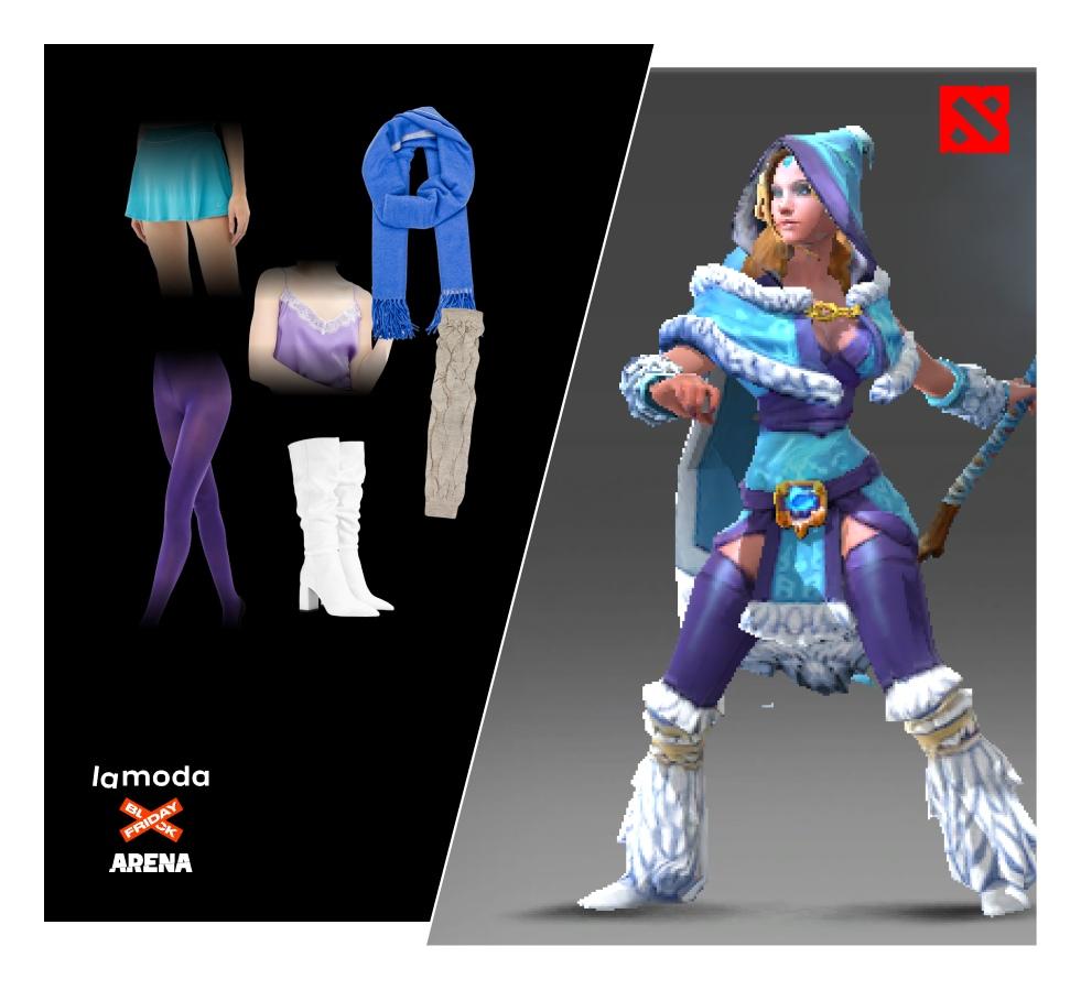 Пользователи стримингового портала ARENA.Stream собирают лук своих персонажей в магазине Lamoda